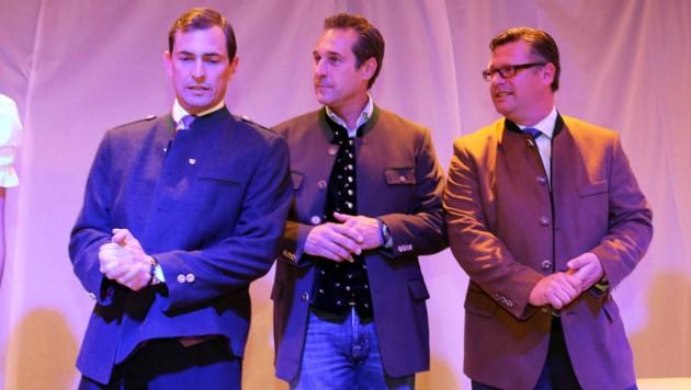 Ragger,Strache, Leyroutz: Die Einigkeit dürfte vorbei sein... (Bild: Kronen Zeitung)