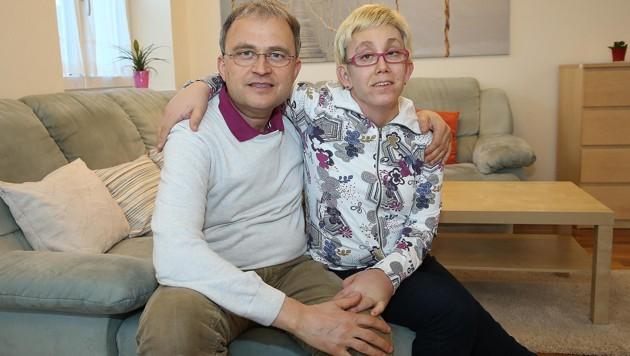Franz Zach und Tochter Susanne (Bild: Peter Tomschi)