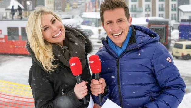 ORF-Frühaufsteher: Nina Kraft und Lukas Schweighofer (Bild: ORF)