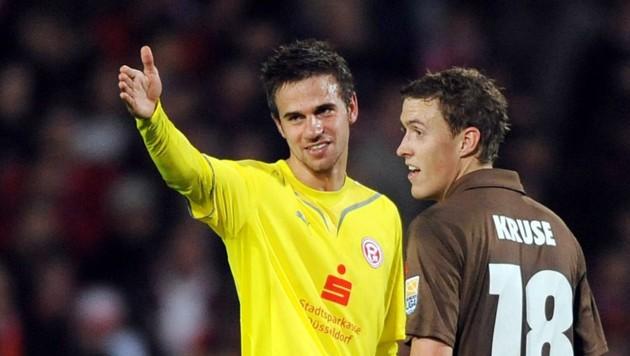 Martin Harnik (damals Fortuna Düsseldorf) und Max Kruse (St. Pauli) vor sechs Jahren (Bild: GEPA)