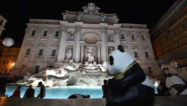 Auch für den Trevi-Brunnen in Rom hieß es ...