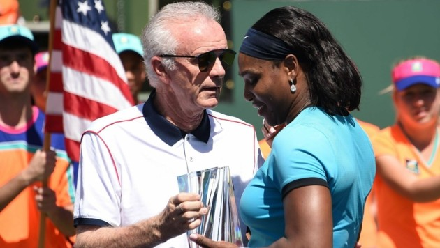 Raymond Moore mit Serena Williams