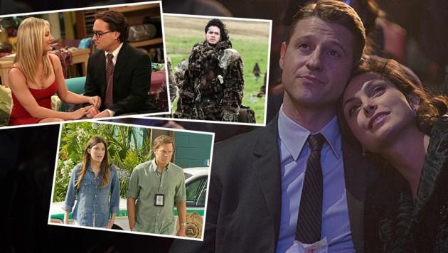 """Groß: Benjamin McKenzie und Morena Baccarin in """"Gotham"""" (Bild: HBO, Fx, Showtime, CBS)"""