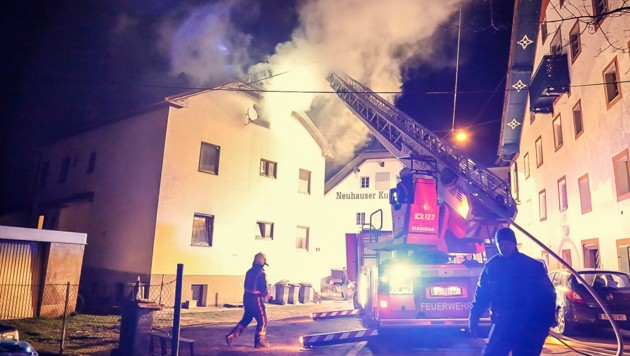 In diesem Haus legte ein Unbekannter gleich drei Brände an nur einem Tag.