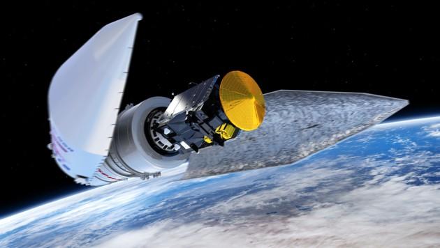"""Der """"Trace Gas Orbiter"""" vor dem Abkoppeln von der Trägerrakete. (Bild: ESA/ATG medialab)"""