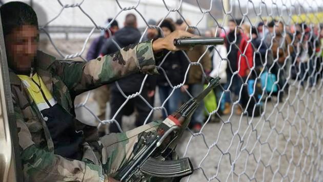"""Auch auf der """"Fahndungsliste"""" syrischer Aktivisten: Alhbih A. E. (li.), er soll in Österreich leben."""