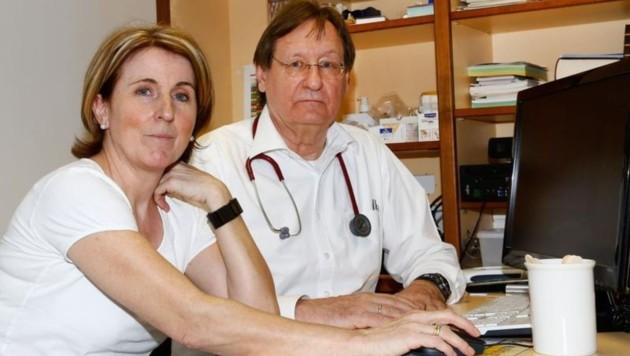 Die Hausarzt-Praxis als Familienbetrieb: Dr. Gösta Maier mit seiner Frau Petra
