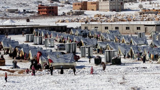 Flüchtlingscamp in der libanesischen Grenzstadt Arsal
