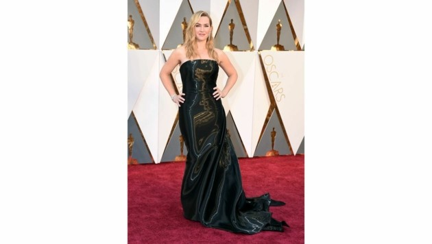 Kate Winslet in Ralph Lauren (Bild: Jordan Strauss/Invision/AP)