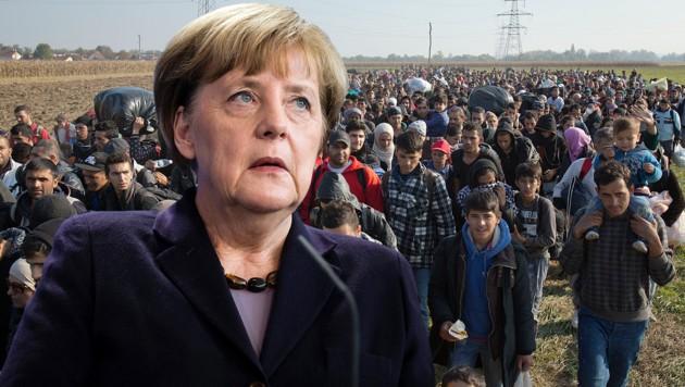 Merkel gerät immer mehr in die Defensive. (Bild: AP, APA/EPA/GREGOR FISCHER)