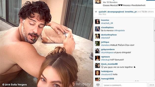 Sofia Vergara teilt diesen heißen Schnappschuss ihres Lovers mit der Welt.