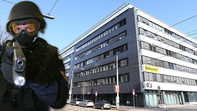 In diesem Büro der MA 35 kam es zum WEGA-Einsatz. (Bild: Gerhard Bartl, Zwefo)