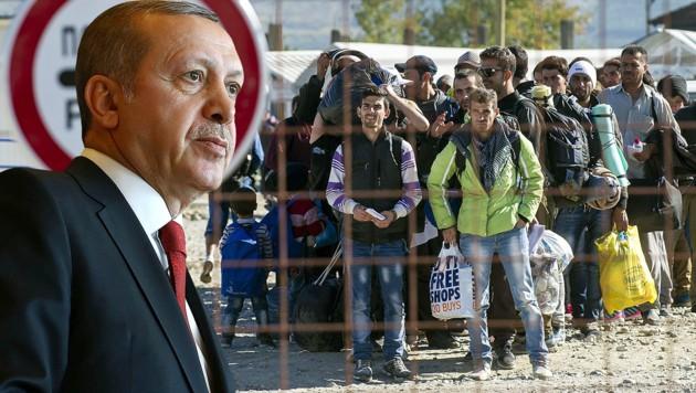 (Bild: APA/AFP/TURK. PRESID. PRESS OFFICE/OZER, APA/AFP/ATANASOVSKI)