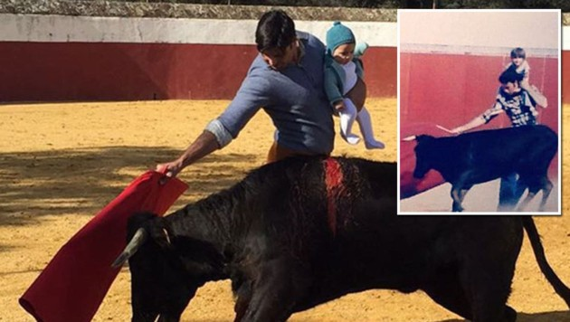 Als Rechtfertigung postete Fran Rivera Ordonez auch ein Foto aus seiner Kindheit (kl. Bild). (Bild: instagram.com/f.r.paquirri)
