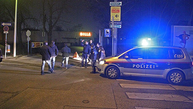 Vor dieser Billa-Filiale in Wien kam es zum blutigen Attentat mit Kopfschuss.