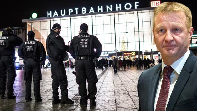 Laut NRW-Innenminister Jäger haben fast alle Sexmob-Verdächtigen einen Migrationshintergrund. (Bild: AFP/dpa/Federico Gambarin, dpa/Maja Hitij)