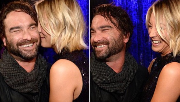 So vertraut zeigten sich Kaley Cuoco und Johnny Galecki bei den People's Choice Awards. (Bild: instagram.com/normancook)