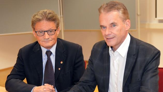 Happe und Vouk sind gegen das geplante Erstaufnahmezentrum (Bild: Hermann Sobe)