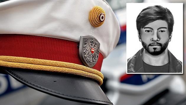 Ein Phantombild eines der beiden Täter wurde von der Polizei veröffentlicht. (Bild: APA/BARBARA GINDL (Symbolbild), Polizei)