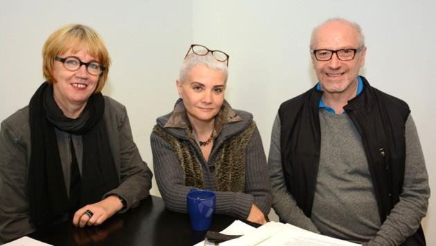 Domoradzki, Paul und Mattäus Recheis (v.li.) wollen die Erkrankung vermehrt ins Bewusstsein rufen. (Bild: FISCHER ANDREAS)