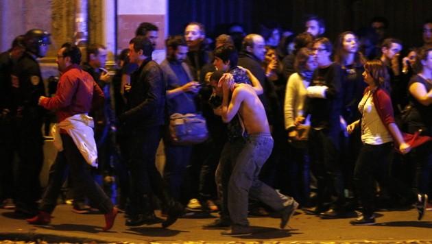Terroranschlag in Paris (Bild: APA/EPA/YOAN VALAT)