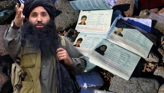 Die Taliban (im Bild Mullah Fazlullah, Chef des pakistanischen Zweiges) verkaufen Todesdrohungen. (Bild: APA/EPA/TTP HO, APA/AFP)