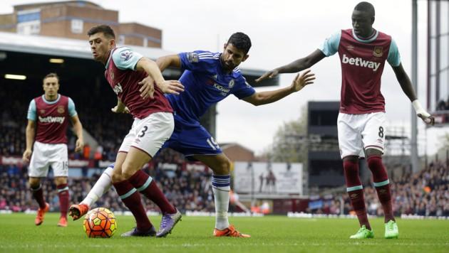 Stets im Hintertreffen: die Chelsea-Kicker (Bild: AP)