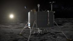 """Künstlerische Illustration: """"Luna-27"""" nach der Landung auf dem Mond (Bild: ESA)"""