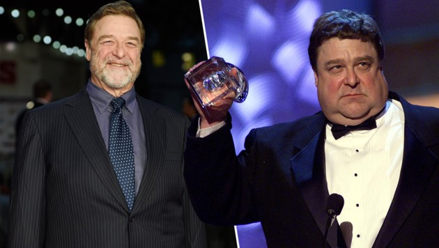 John Goodman: Die fetten Jahre (rechts) sind vorbei ... (Bild: APA/EPA/FACUNDO ARRIZABALAGA, AFP)