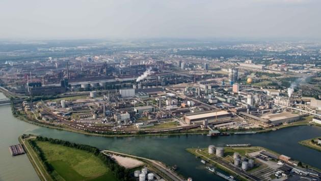 Der Linzer Chemiepark (Bild: Werner Kerschbaummayr)
