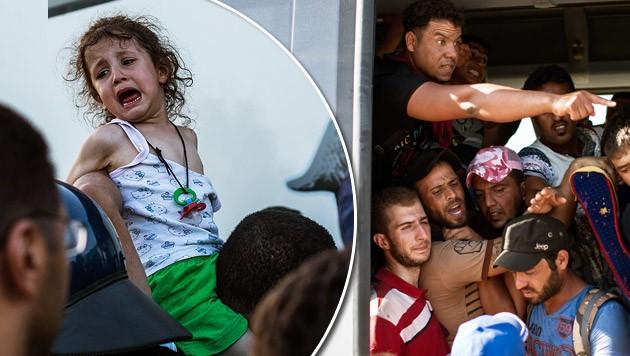 Kroatien ist mit dem Flüchtlingsstrom heillos überfordert. (Bild: AP)