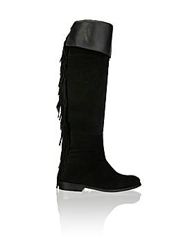 Schwarze Stiefel mit Fransen von Humanic (Bild: Humanic)