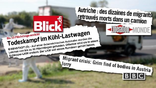(Bild: APA/ROLAND SCHLAGER, blick.ch, bbc.com, liberation.fr)