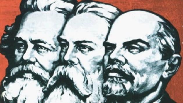 """Karl Marx, Friedrich Engels und Wladimir Iljitsch Lenin (Bild: Grafik """"Krone"""")"""