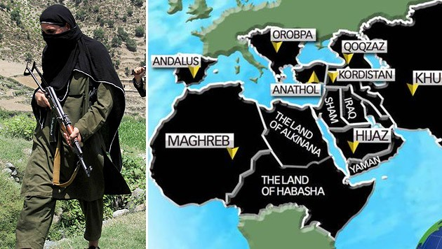 islamischer staat karte 2020 Karte: IS will bis 2020 Teile Europas erobern | krone.at
