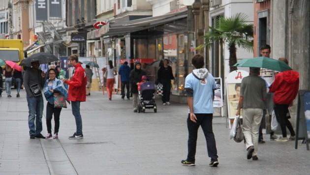In der Grazer City sind derzeit viele Keiler unterwegs. (Bild: KRONEN ZEITUNG)