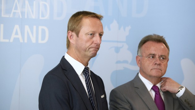 FP-Chef Johann Tschürtz (links) (Bild: APA/ROBERT JAEGER)