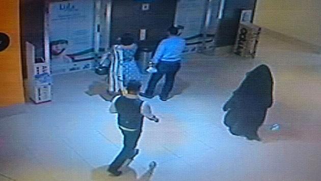Vollverschleiert betrat Alaa Bader al-Hashemi am 1. Dezember 2014 das Einkaufszentrum in Abu Dhabi. (Bild: AFP)