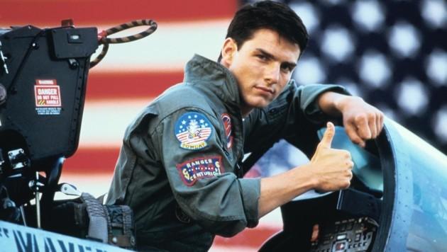 """Tom Cruise als """"Maverick"""" in """"Top Gun"""" (1986) (Bild: Paramount Pictures)"""