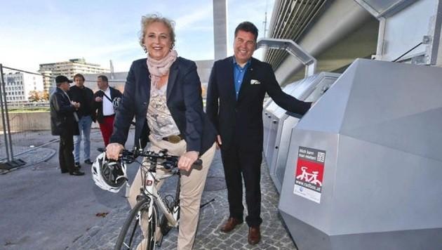 Wollen Geld von der EU für Salzburgs Jahrhundertprojekt: EU-Abgeordnete Schmidt und LR Mayr (Bild: Markus Tschepp)
