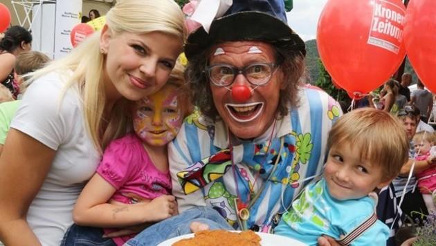 """Clown """"Wuascht"""" bringt nicht nur die Kinder zum Lachen! (Bild: Kronen Zeitung)"""