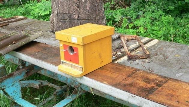 Zehn dieser gelben Zuchtkästen wurden in Edling gestohlen. Hinweise an die PI Eberndorf: 059 1332143 (Bild: LPD Kärnten)