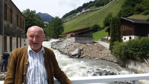Der Sellrainer Bürgermeister Norbert Jordan kann wieder etwas lächeln. (Bild: Andreas Moser)