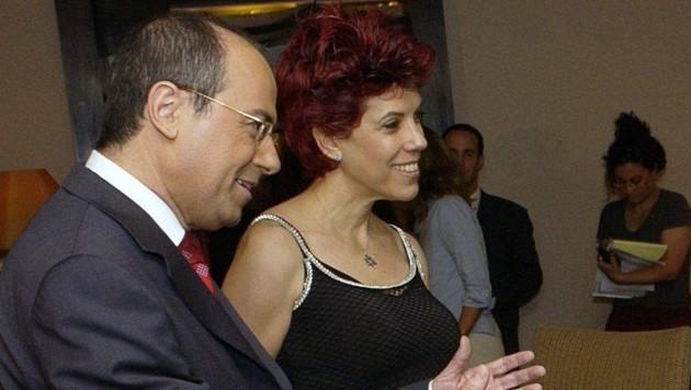 Ministergattin Judy Nir-Mozes und ihr Ehemann Silvan Shalom (Bild: Israel Hadari/EPA/picturedesk.com)