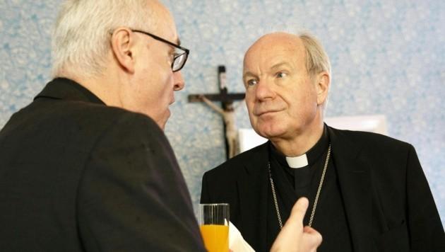 Der Eisenstädter Bischof Ägidius Zsifkovics und der Erzbischof von Wien, Christoph Schönborn (Bild: APA/ERWIN SCHERIAU)