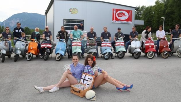 """Die """"Old Vespa Riders"""" freuen sich schon auf zahlreiche Teilnehmer (Bild: Evelyn Hronek)"""