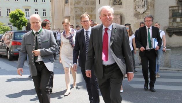 Schützenhöfer marschiert der Landeshauptmann-Kür entgegen. (Bild: Christian Jauschowetz)