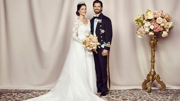 Das offizielle Hochzeitsfoto von Prinz Carl Philip und seiner Sofia. (Bild: Kungahuset.se/Mattias Edwall)