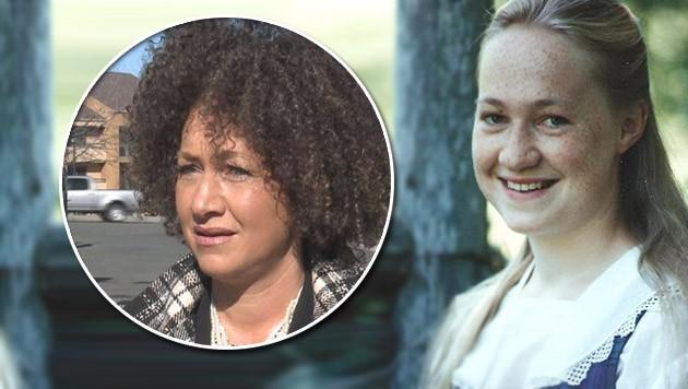 Rachel Dolezal als blonder Teenager (rechts) und - Jahre später - im Afro-Look (links). (Bild: twitter.com)