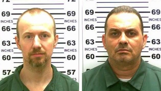 David Sweat (links) and Richard Matt (rechts) sind immer noch auf der Flucht. (Bild: APA/EPA/NEW YORK STATE POLICE/HANDOUT)